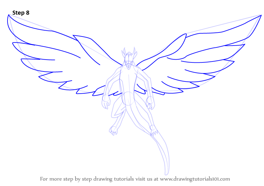 how to draw fairy wings step by step