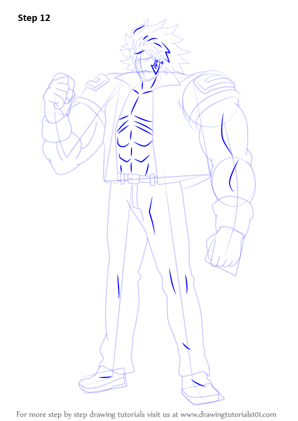 learn how to draw elfman strauss from fairy tail fairy