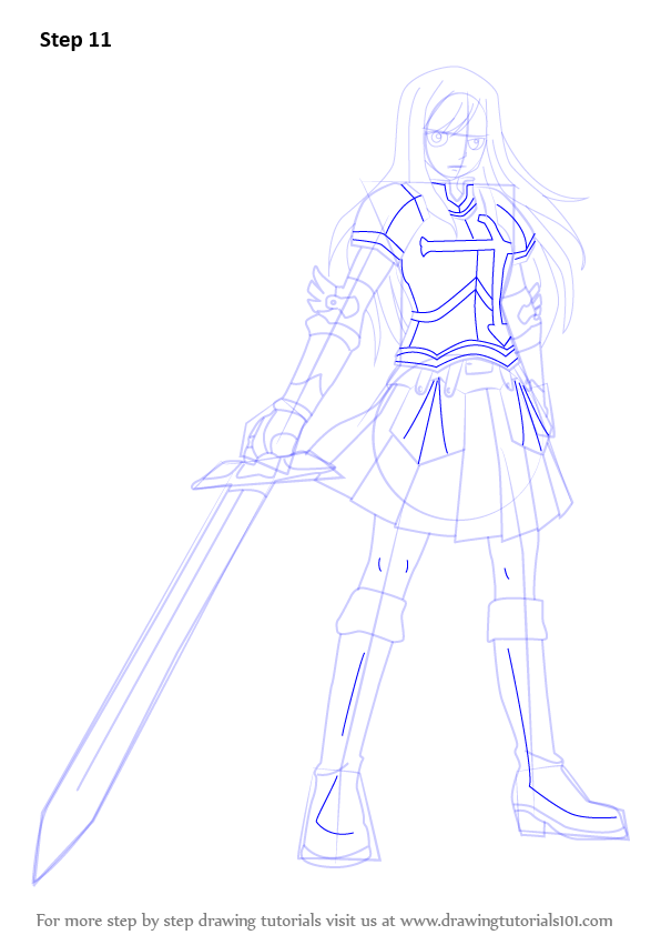 Learn How to Draw Erza Scarlet from Fairy Tail (Fairy Tail ...