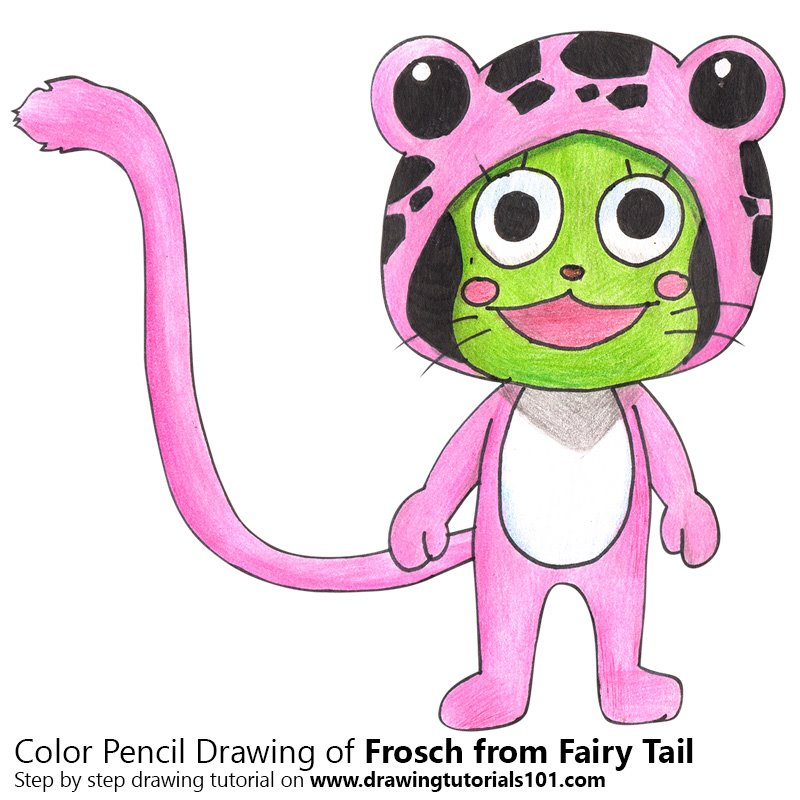 Frosch from Fairy Tail Color Pencil Drawing
