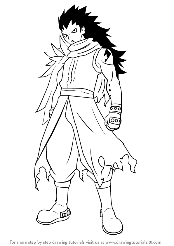 Learn How to Draw Gajeel Redfox from Fairy Tail (Fairy ...