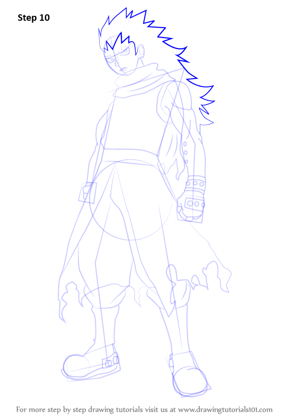 Step by step how to draw gajeel redfox from fairy tail for How to draw a cartoon fairy
