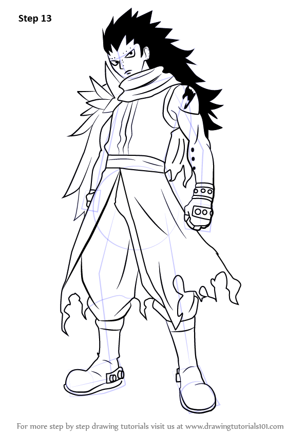 Step by Step How to Draw Gajeel