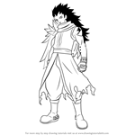 How to Draw Gajeel Redfox from Fairy Tail