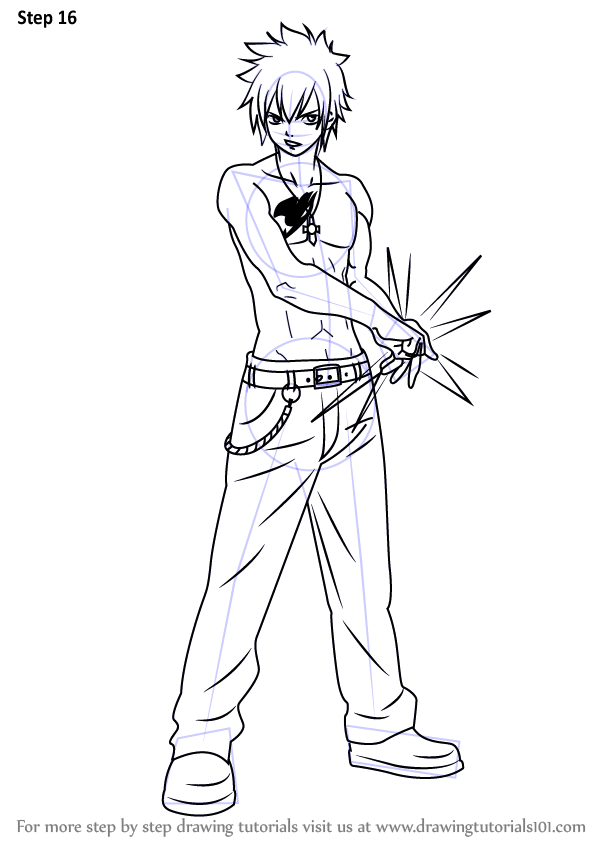 Learn How to Draw Gray Fullbuster from Fairy Tail (Fairy