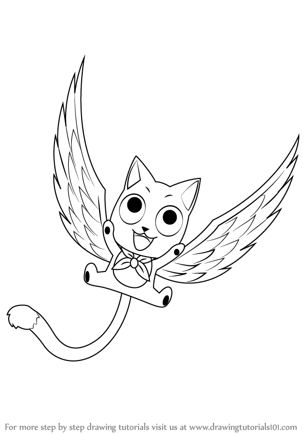 Learn How To Draw Happy From Fairy Tail Step By Drawing Tutorials