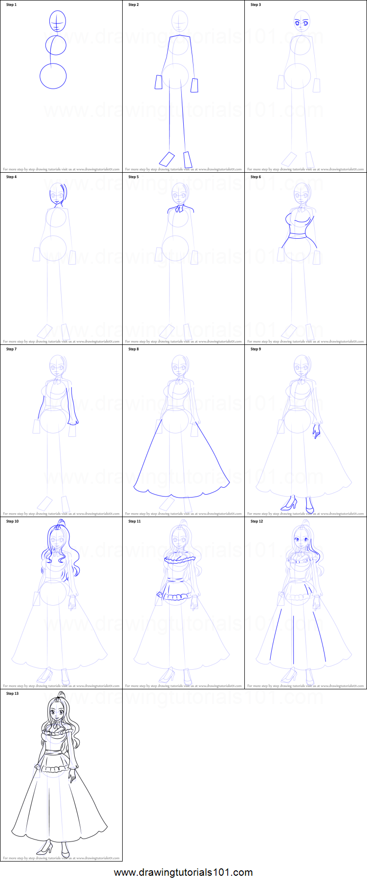 How To Draw Mirajane Strauss From Fairy Tail Printable Step By Step Drawing Sheet Drawingtutorials101 Com I've mostly pulled out of doing the espionage work myself. how to draw mirajane strauss from fairy