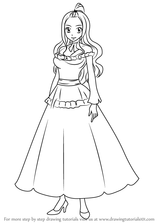 Learn how to draw mirajane strauss from fairy tail fairy for How to draw a cartoon fairy