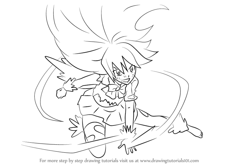 Step By Step How To Draw Wendy Marvell In Dragon Force From