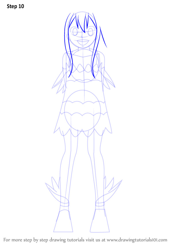 Step By Step How To Draw Wendy Marvell From Fairy Tail