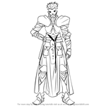 How to Draw Gilgamesh from Fate-Zero