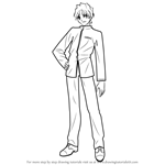 How to Draw Shinji Matou from Fate-stay night