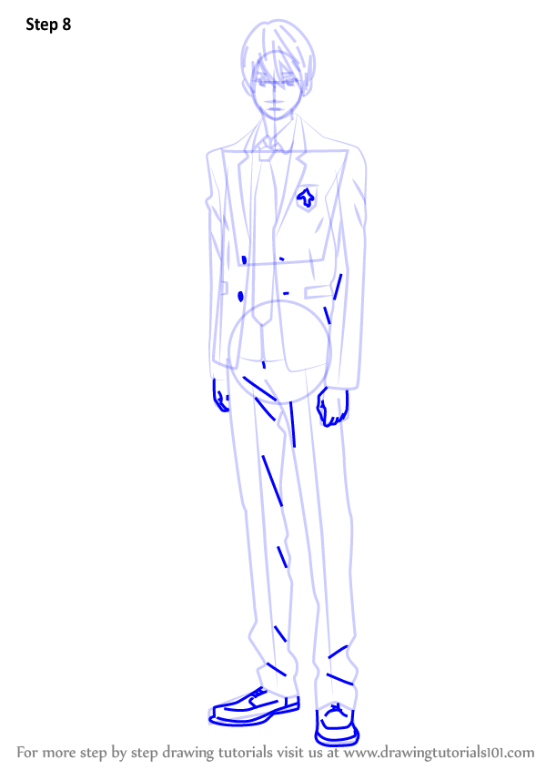 Step by step how to draw haruka nanase from free for Free online drawing lessons step by step