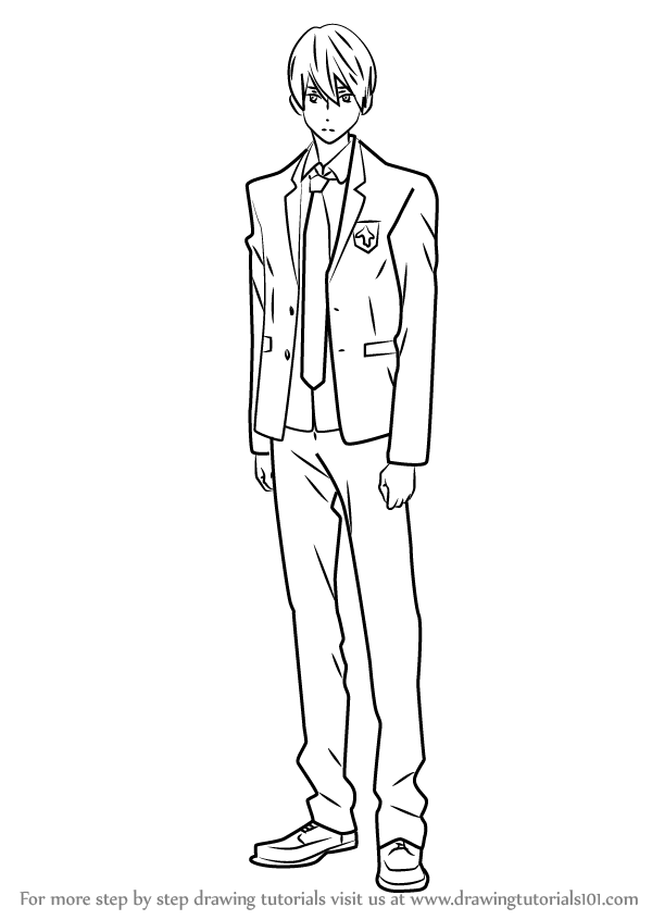 Learn how to draw haruka nanase from free free step by for Free online drawing lessons step by step