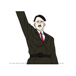 How to Draw Adolf Hitler from Fullmetal Alchemist