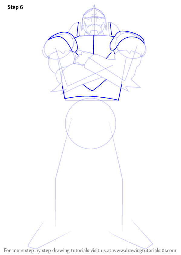 Step by Step How to Draw Alphonse Elric from Fullmetal