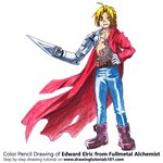 How to Draw Edward Elric from Fullmetal Alchemist