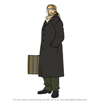 How to Draw Van Hohenheim from Fullmetal Alchemist