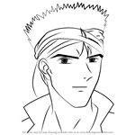 How to Draw Mitsukake from Fushigi Yuugi