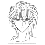 How to Draw Nakago from Fushigi Yuugi