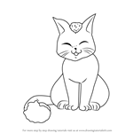 How to Draw Tama the cat from Fushigi Yuugi