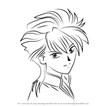 How to Draw Tasuki from Fushigi Yuugi