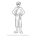 How to Draw Tomite from Fushigi Yuugi
