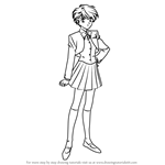 How to Draw Yui Hongo from Fushigi Yuugi