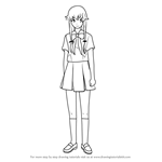How to Draw Yuno Gasai from Future Diary
