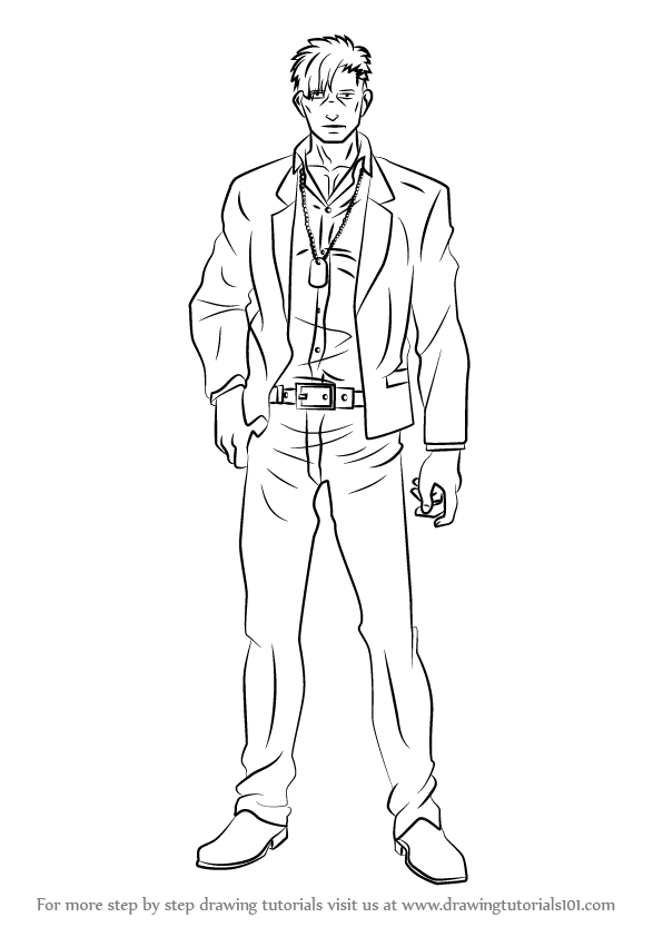 learn how to draw nicolas brown from gangsta  gangsta