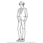 How to Draw Mitsuya Maeno from Gekkan Shoujo Nozaki-kun