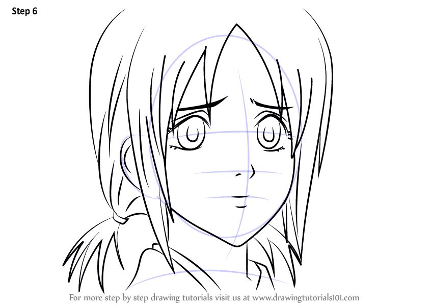 Step by Step How to Draw Hanako from Gin Tama