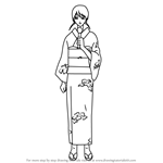 How to Draw Hanano Saki from Gin Tama