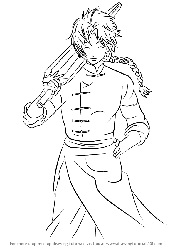 Learn How to Draw Kamui from Gin Tama Gin Tama Step by