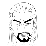 How to Draw Kanbei from Gin Tama