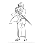 How to Draw Katsura Kotarou from Gin Tama