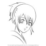 How to Draw Okita Mitsuba from Gin Tama