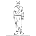 How to Draw Sakata Kintoki from Gin Tama