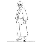How to Draw Shimura Shinpachi from Gin Tama