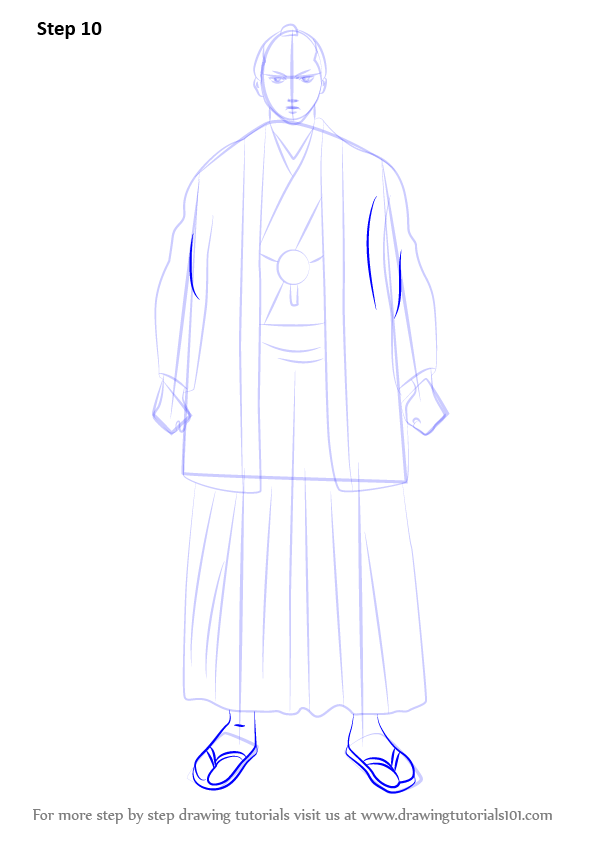 Step by Step How to Draw Tokugawa Shige Shige from Gin