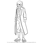 How to Draw Yagyuu Kyuubei from Gin Tama