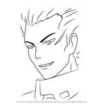 How to Draw Argo Tsukishima from Guilty Crown