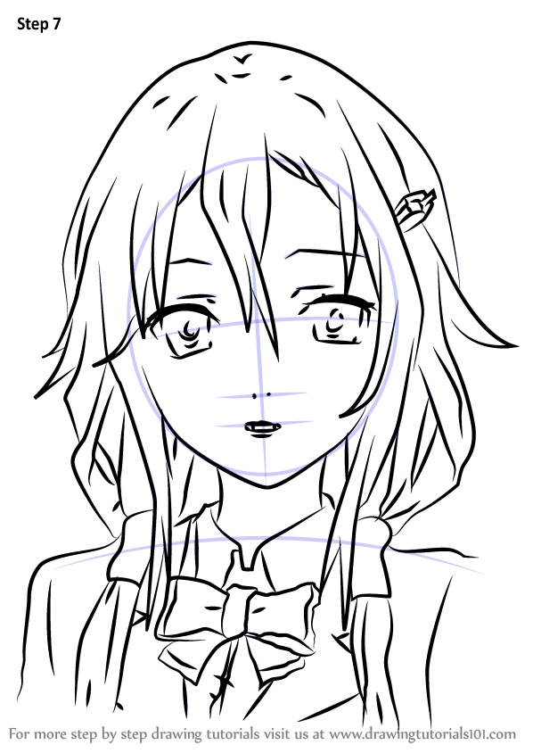 learn how to draw inori yuzuriha from guilty crown  guilty