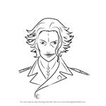 How to Draw Makoto Waltz Segai from Guilty Crown