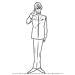 How to Draw Admiral Wakkein from Gundam