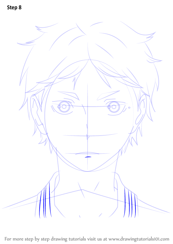 Step By Step How To Draw Koushi Sugawara From Haikyuu