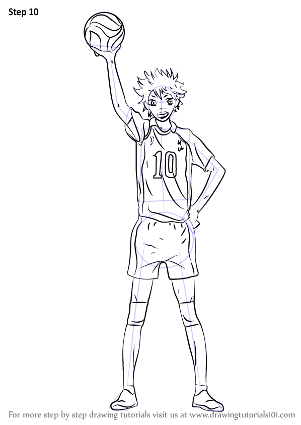 Step By Step How To Draw Shoyo Hinata From Haikyuu