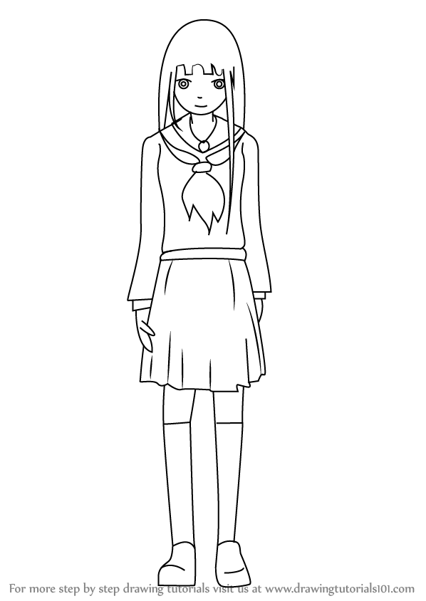 Learn How To Draw Ai Enma From Hell Girl Hell Girl Step