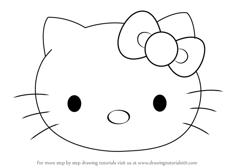Learn how to draw hello kitty face hello kitty step by step drawing tutorials