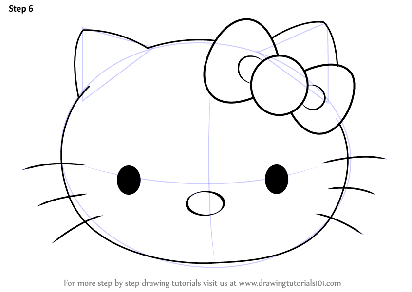 Learn How To Draw Hello Kitty Face Hello Kitty Step By Step